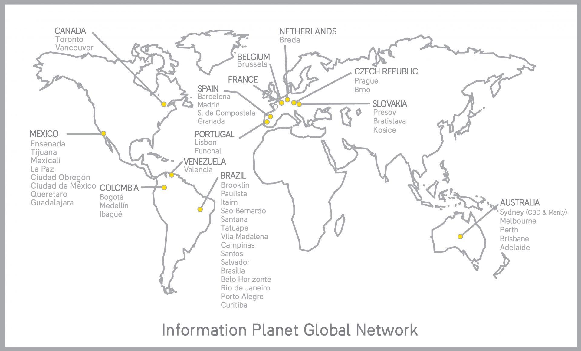 Kancelárie INFORMATION PLANET vo svete